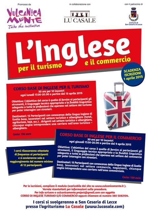 di commercio inglese al via i corsi di inglese per turismo e commercio