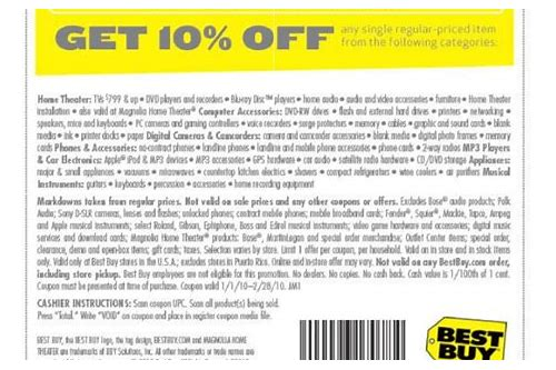 10 off coupons best buy