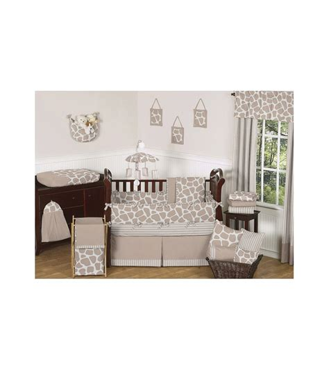 sweet jojo designs giraffe 9 crib bedding set