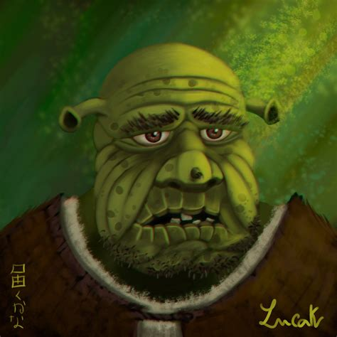 painting shrek shrek is shrek is by lucak desu on deviantart