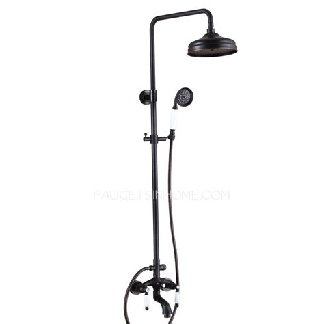 Outside Shower Faucet by Antique Rubbed Bronze Black Two Handle Outdoor Shower Faucets