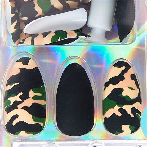 Faux Ongles Motif by Faux Ongles Stiletto Mats Motif Camouflage S Fr