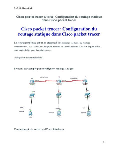 tutorial do cisco packet tracer em portugues reseaux configuration du routage statique dans cisco