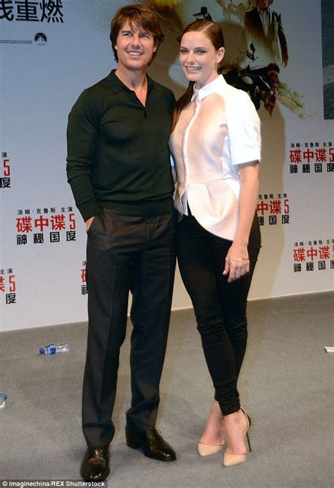 actress of mission china tom cruise joins rebecca ferguson at rogue nation event in