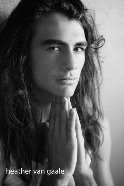 top long haired male models male model los angeles long hair men poses pinterest