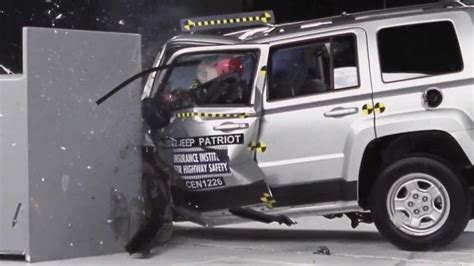 Jeep Patriot Crash Test Iihs 2012 Jeep Patriot Small Overlap Crash Test Poor
