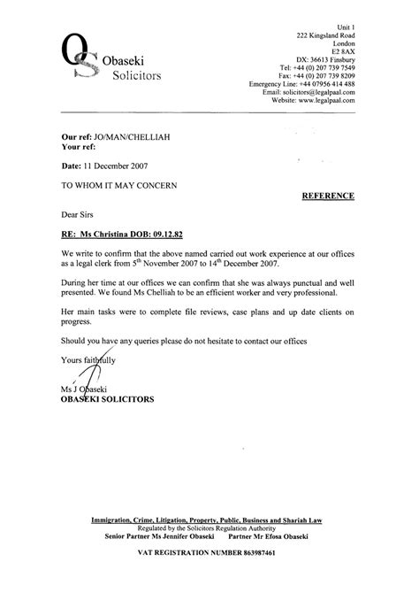 Reference Letter Lawyer Reference Letters Chelliah
