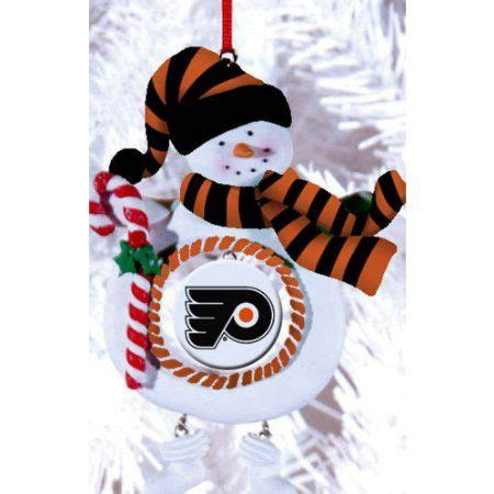 philadelphia flyers hockey snowman christmas ornament
