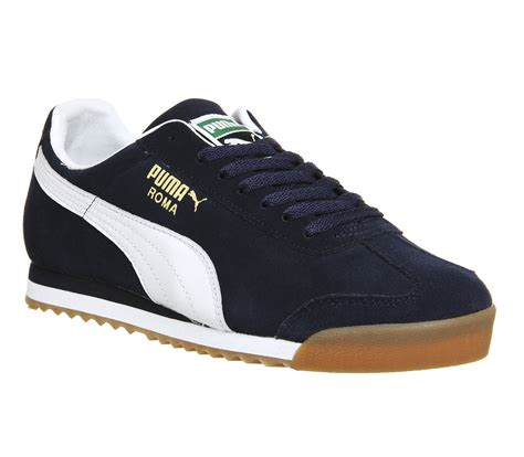pumas shoes roma navy white gum exclusive trainers shoes ebay