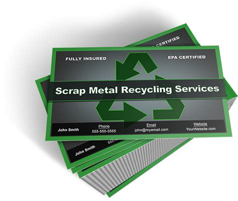 aluminum business cards templates scrap metal business cards free template