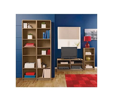 buy home maine half width small bookcase oak