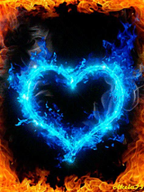 amazing burning hearts gif images best animations