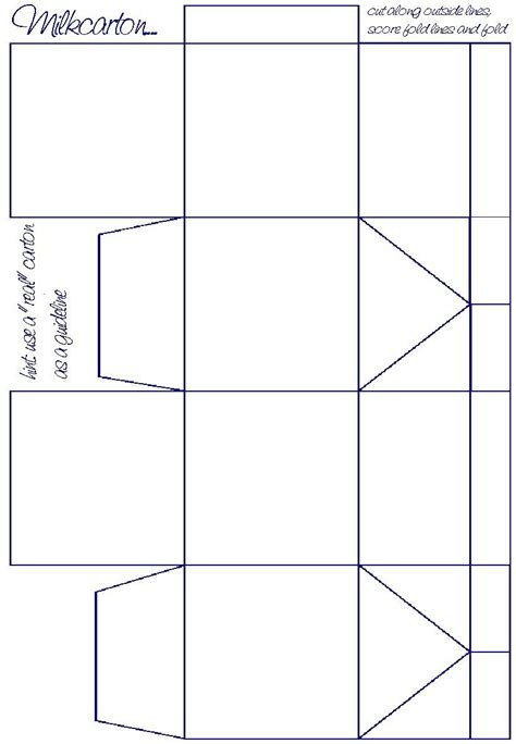 pinterest templates for boxes milkcarton click for printable version in pdf format