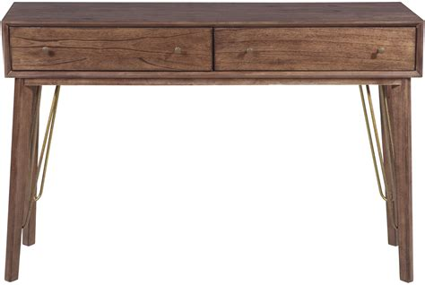 accent console table distressed walnut storage accent console table from