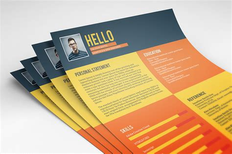Resume Templates Flat Design 130 New Fashion Resume Cv Templates For Free