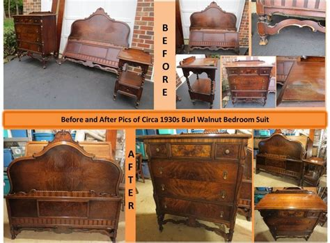 1920s bedroom furniture ca 1920s burl walnut bedroom suite that i restored refinished into beautiful bedroom furniture