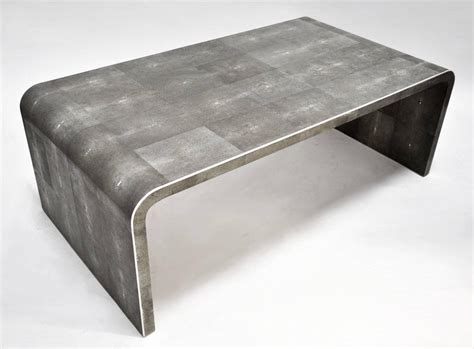 shagreen coffee table shagreen clad coffee table with bone detail at 1stdibs
