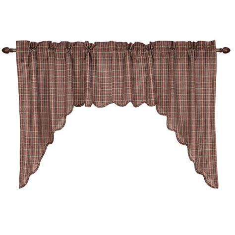 36 x 36 curtains canavar ridge scalloped curtain swag 36 quot x 36 quot x 16 quot vhc