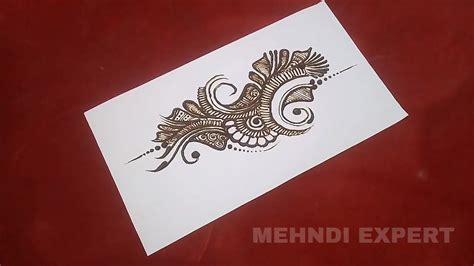 step by step tutorial for henna pattern our external mehndi design pattern on paper step by step tutorial
