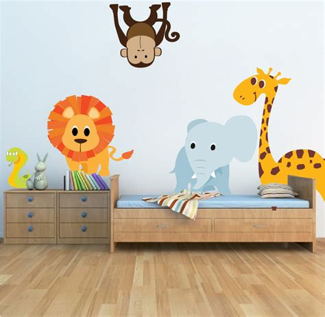 Nursery Wall Decals Animals Nursery Zoo Animal Wall Decal Mural Room Decals By Primedecal