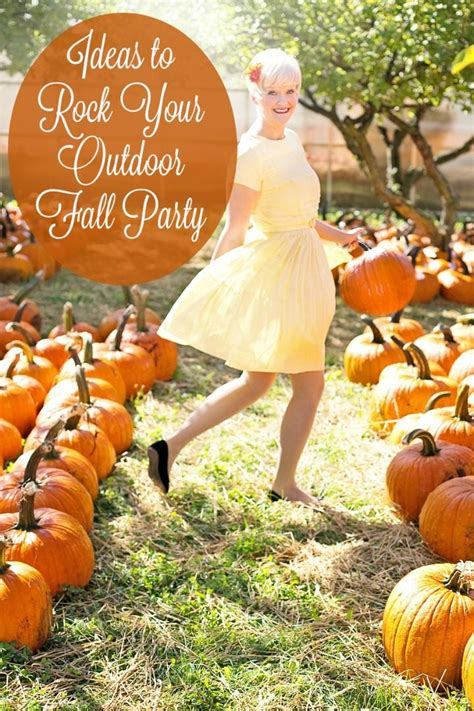 fall backyard party ideas rock your outdoor fall party with these ideas