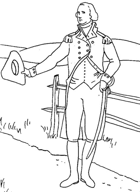 Us President George Washington Coloring Page Coloring Book Coloring Pages George Washington