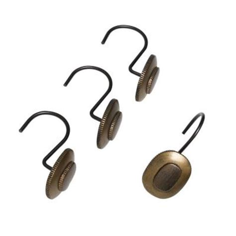oil rubbed bronze shower curtain hooks india ink desoto shower curtain hooks in shades of oil