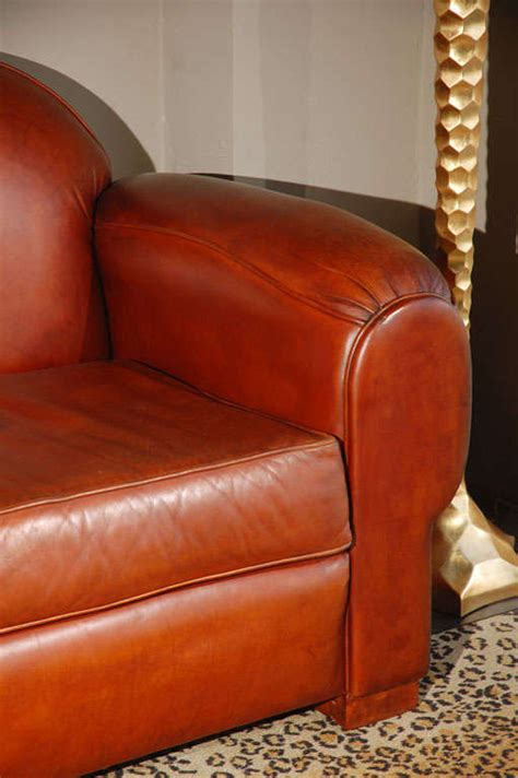 overstuffed leather couch overstuffed and comfortable leather sofa at 1stdibs