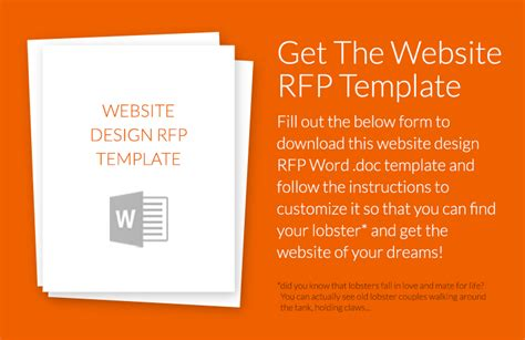 rfp presentation template how to write a website design rfp w exle template
