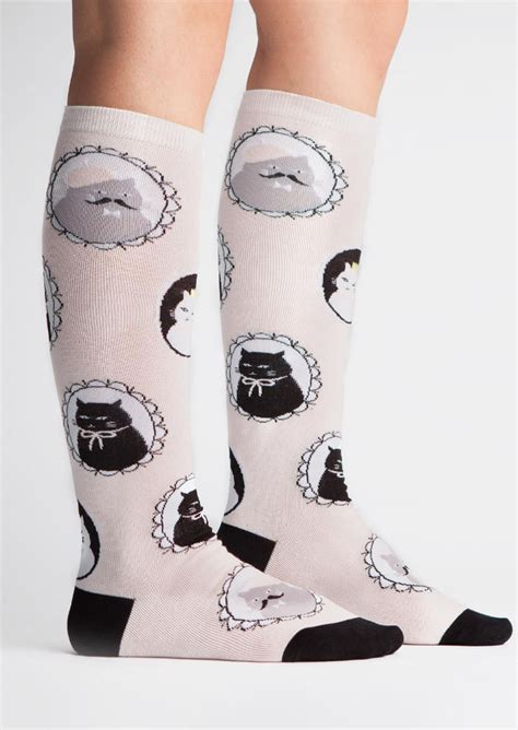 Stylehive Buzz Thigh High Scrunchable Socks Are As As They Are Cozy Fashiontribes Fashion by 14 Pairs Of Cat Socks To Kick The Mew Year In Style