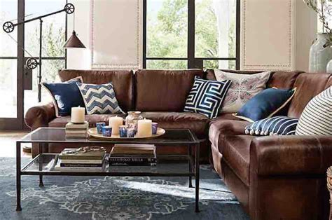 blue brown living room modern house