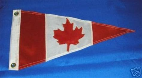 canadian boat flags canadian handmade pennant flag burgee maple leaf canada