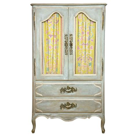 shabby chic painted armoire