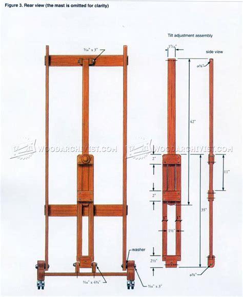 easel plans woodworking artist easel plans woodarchivist