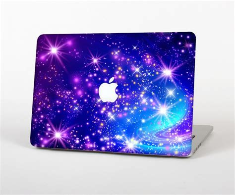 Notebook Apple Warna Pink the glowing pink blue starry orbit skin for the apple macbook pro 13 quot pink blue the o jays