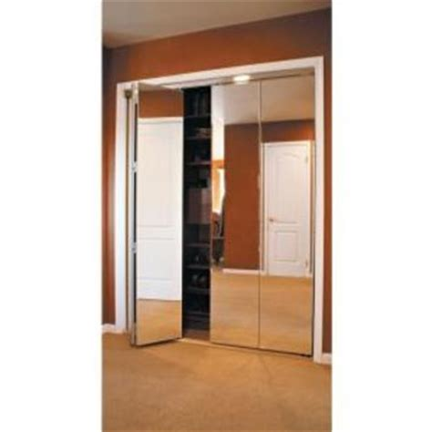 Bifold Mirrored Closet Doors Home Depot Impact Plus Beveled Edge Mirror Solid From Home Depot
