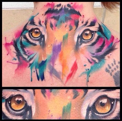 tiger watercolor tattoo ideas pinterest