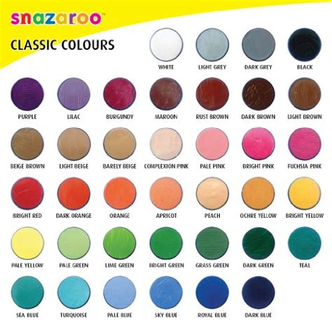 snazaroo classic paint 18ml light grey