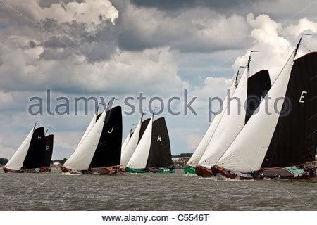 what are flat bottomed boats called the netherlands lemmer sailing races called skutsjesilen