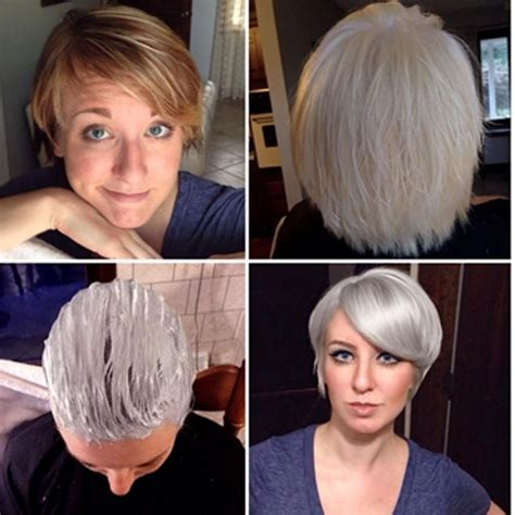 photos of how to transition to gray hair how to gracefully transition to gray hair after years of