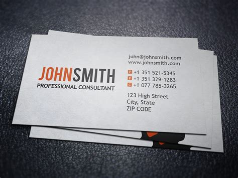 it consultant business card template professional executive business card business card