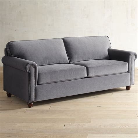 Gray Sofa Sleeper Alton Zinc Gray Roll Arm Sleeper Sofa Goodglance