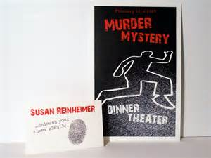 yelo creations murder mystery invitation front and back