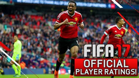 17 fifa player ratings fifa 17 official player ratings manchester united