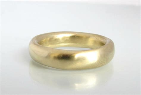 gold wedding band yellow gold ring thick gold ring thick