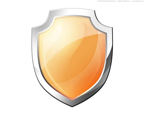 shield psd template psd orange shield icon psdgraphics