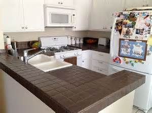 painting tile countertops on a selection of the