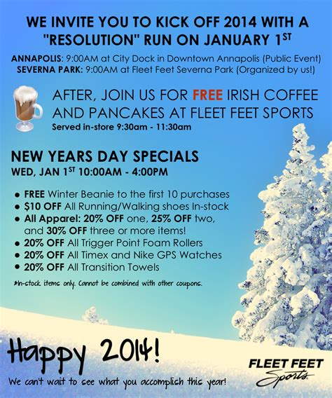 new years day sale new years day run pancakes coffee awesome