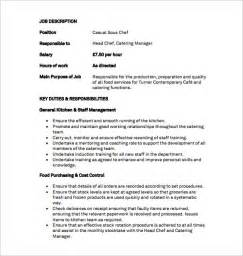 Chef Duties And Responsibilities by 9 Sous Chef Description Templates Free Sle