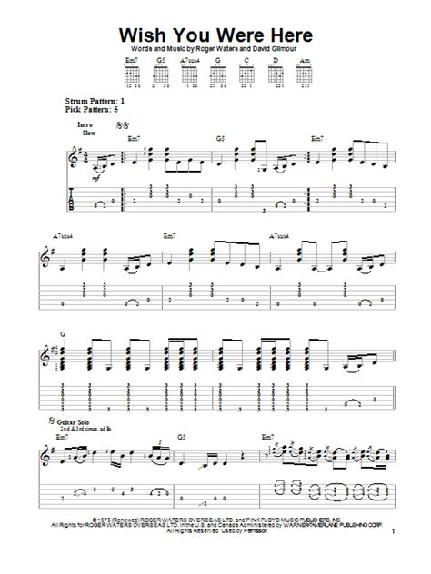 ukulele tutorial wish you were here wish you were here sheet music direct